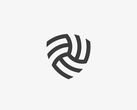 抽象線形無限シールド ロゴ設計。高級ビジネス サイン