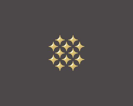 glamorous: Stars letter O vector logotype. Luxury abc icon sign. Shiny elegance font symbol. Celebrity glamorous type logo Illustration