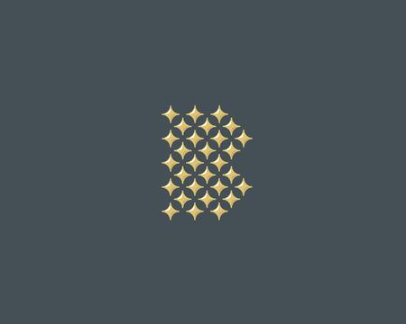 glamorous: Stars letter B vector logotype. Luxury abc icon sign. Shiny elegance font symbol. Celebrity glamorous type logo