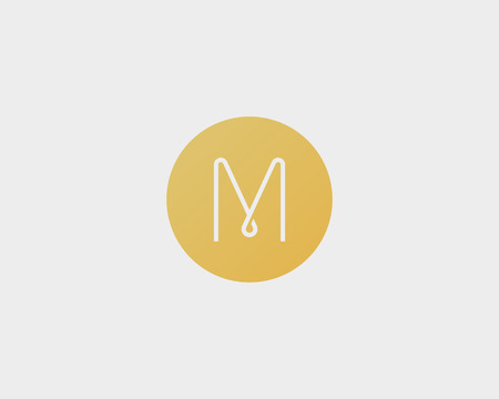 Abstract letter M logo design. Line vector monogram. Illustration