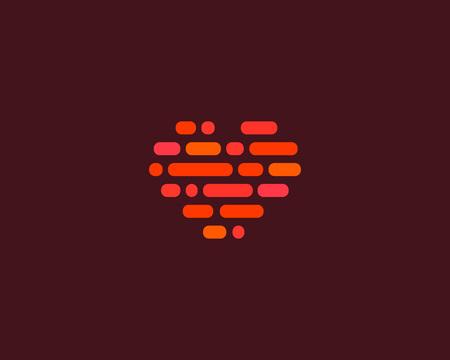 I love heart social vector logotype. Resumo do  Ilustração