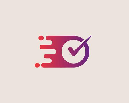 Überprüfen Sie das Logo. Rechtes Vektor-Logo-Design.