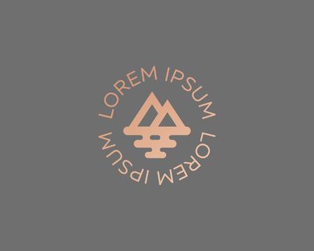 Mountain sea travel symbol design. Ilustração
