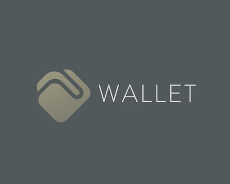 Wallet vector logo design. Money billfold payment logotype. 일러스트
