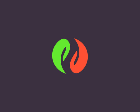 Yin yang hands vector logotype. Spa relax massage logo.