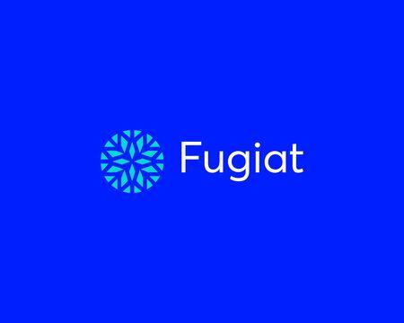 Abstract elegant flower crystal brilliant logo icon vector design. Universal creative premium symbol. Graceful jewel boutique vector sign