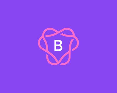 Creative linear monogram letter B logotype. Universal vector alphabet frame crest icon logo symbol. Illusztráció