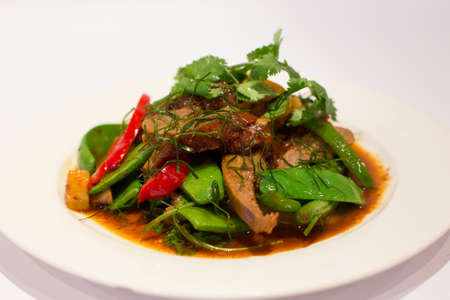 entenbraten: Roast Duck Curry Lizenzfreie Bilder