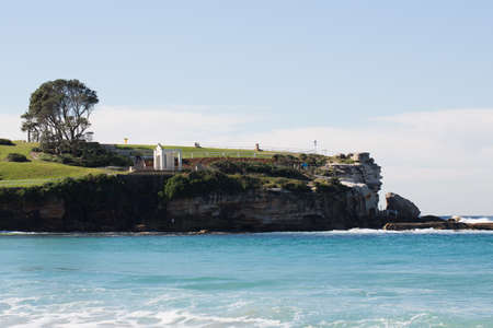 bathers: the rockpool area of Coogee beach, Eastern Suburbs, New South Wales, Sydney  Stock Photo
