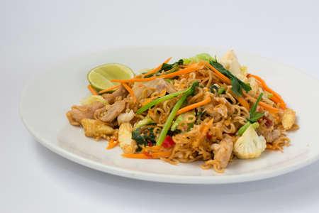 stir up: Fried Thai Mama Instant Noodles