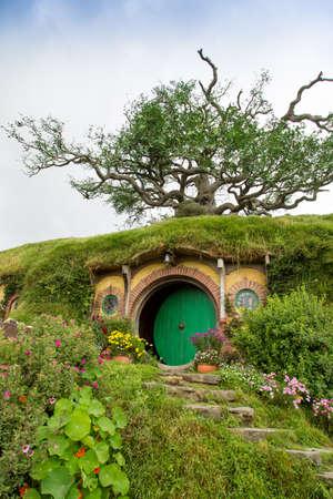 seigneur: Hobbiton Movie Set, Matamata, Île du Nord, Nouvelle-Zélande Éditoriale