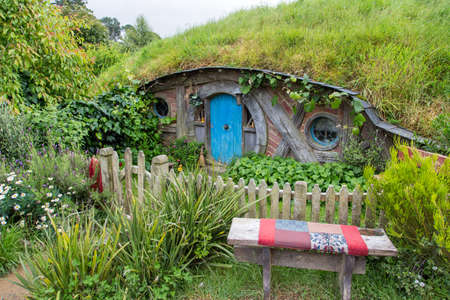 holiday blockbuster: Hobbiton Movie set, Matamata, North Island, New Zealand Editorial