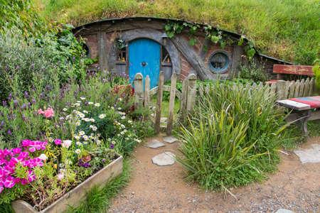 holiday blockbuster: Hobbiton Movie set, Matamata, North Island, New Zealand Editorial