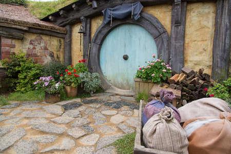 blockbuster: Hobbiton Movie set, Matamata, North Island, New Zealand Editorial