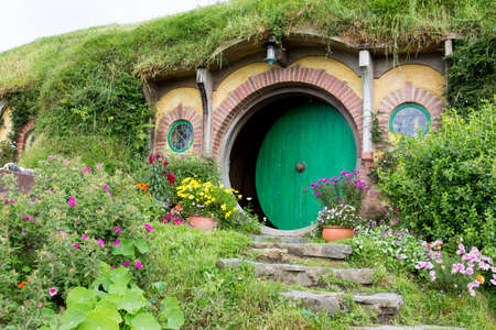 zealand: Hobbiton Movie set, Matamata, North Island, New Zealand Editorial