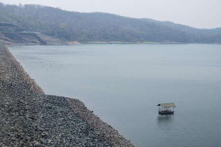 fantastic view: Fantastic view of The Queen Sirikit Dam, an embankment dam in Thailand