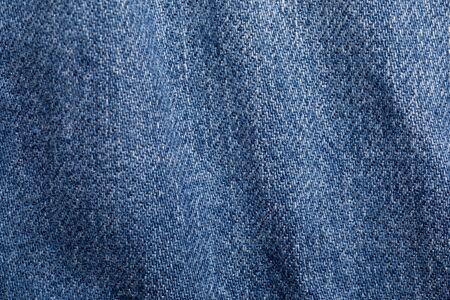 Close up shot of denim jeans texture