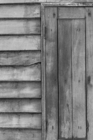 Old wood wall with windown background Stockfoto