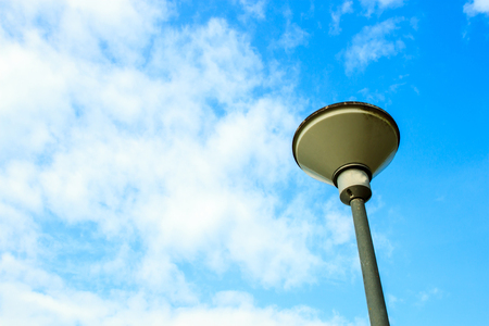 led lighting: Street Lights with cloud and blue sky space. Stock Photo