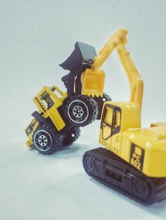 backhoe loader: Battle Stock Photo