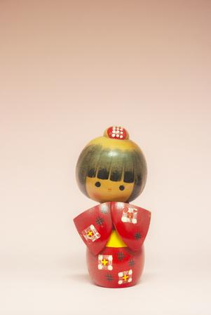Japanese wooden doll Imagens