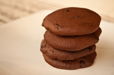 Double chocolate chip cookies photo