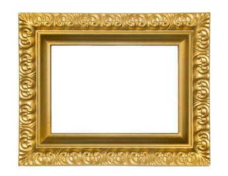 白い背景の上のビンテージの長方形フレーム