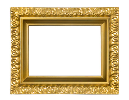 Vintage rectangular frames on white background Stock fotó