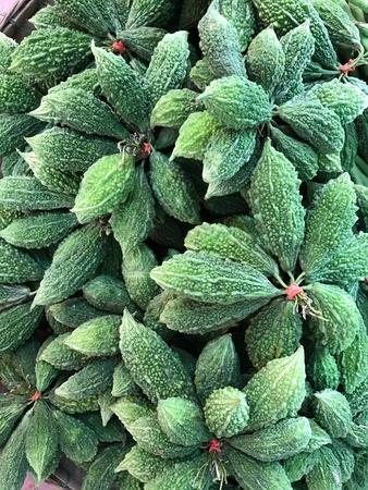 Bitter gourd in a market