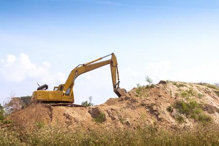 backhoe in construction site