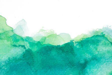 Texture verte et bleue avec des taches d'aquarelle
