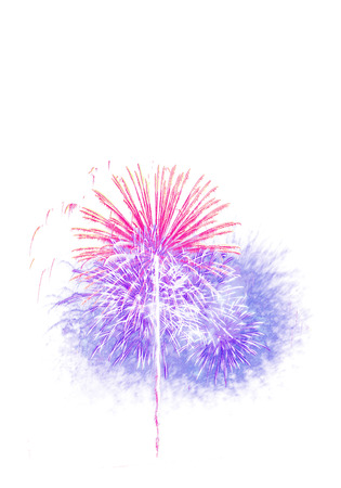 firework isolated white background