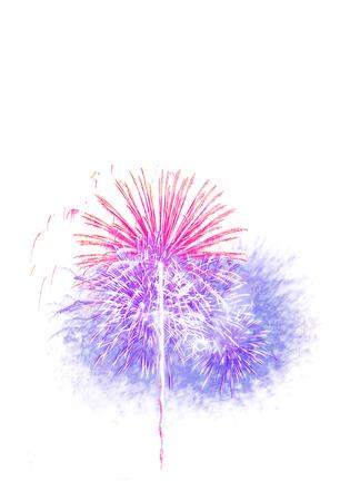fireworks: fuegos artificiales de fondo blanco aislado