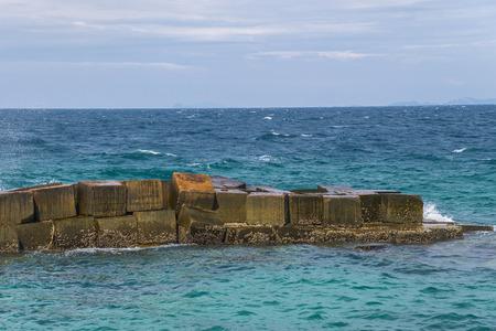 seawall: wave crash and splash on Seawall