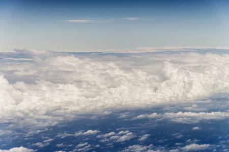 cumulus cloud: Cloudscape. Blue sky and white cloud. Sunny day. Cumulus cloud.