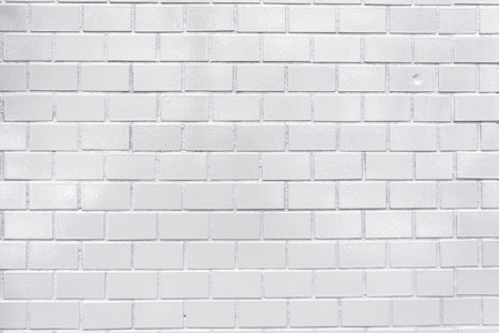 bricks background: Tiled wall with white bricks- texture and background