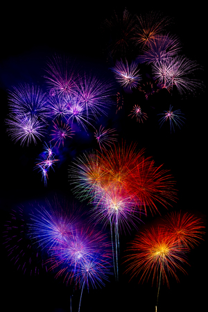 multi colorful: multi colorful firework beautiful isolated on black background