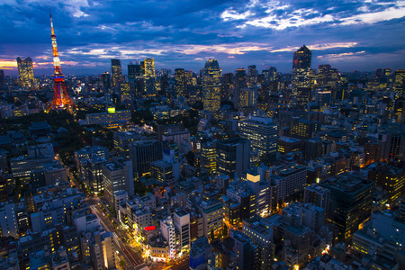 metropolis: Cityscape of Tokyo City, Japan - Tokyo is the worlds most populous metropolis and is described as one of the three command centers for world economy