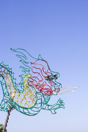 fluorescence: Neon tube bender of dragon image