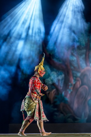 Khon is dance drama of Thailand tradition classical masked, this performance is Ramayana epic