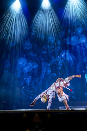 Khon is dance drama of Thai classical masked, this performance is Ramayana epic Editorial