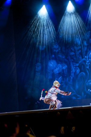 act of god: Khon is dance drama of Thai classical masked, this performance is Ramayana epic Editorial