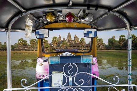 tuktuk: view from inside thailand Tuk-Tuk, three wheel local taxi in Thai, Tuk-tuk ride, a favorite of tourists