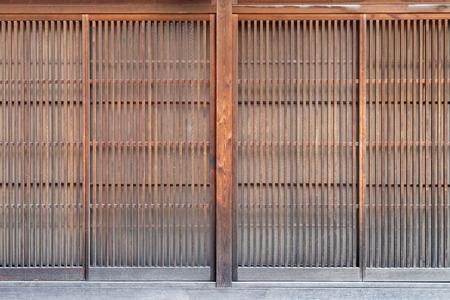 Traditional Japan style wooden door with   paper ((Shoji door) 版權商用圖片