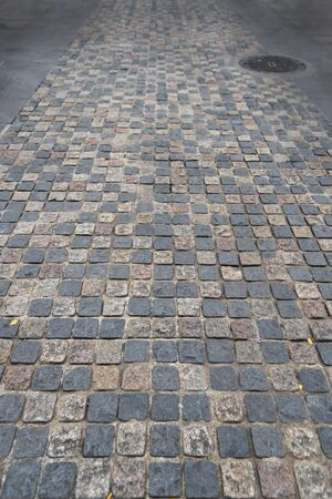road paved stones of a Brick Walkway,  background and pattern Stockfoto