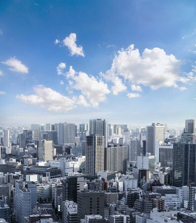 Cityscape of Tokyo City, Japan - Tokyo is the worlds most populous metropolis and is described as one of the three command centers for world economy. Tokyo Skyline.