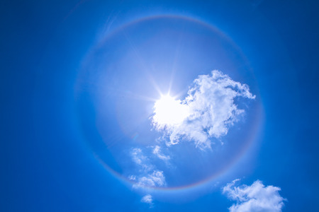 aura sun: ring of sun with fantacy could Stock Photo