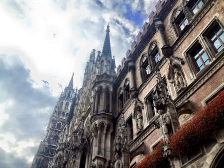 rathaus: The gothic Rathaus at the Marienplatz Munich.