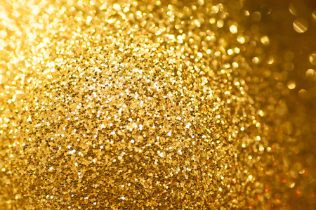Gold glitter background Defocused abstract