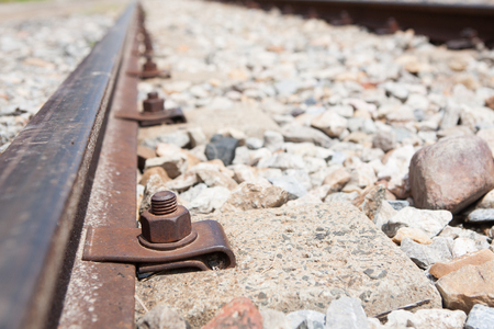 Nuts and bolts of a railway top viwe